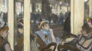 德加畫下咖啡館裡的女人 Femmes à la terrasse d'un café