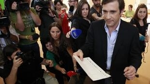 Pedro Passos Coelho, leader of the victorious Social Democrat party in Sunday's election