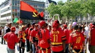 Adeptos da selecção angolana