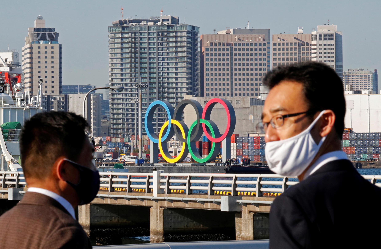 Vista general de los edificios residenciales para los atletas en la Villa Olímpica y Paralímpica para los Juegos de Tokio 2020.