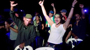 Los  guerrilleros de las Farc pusieron en pie para la conferencia un estructura digna de Woodstock en medio de los Llanos del Yari, en el sur de Colombia.