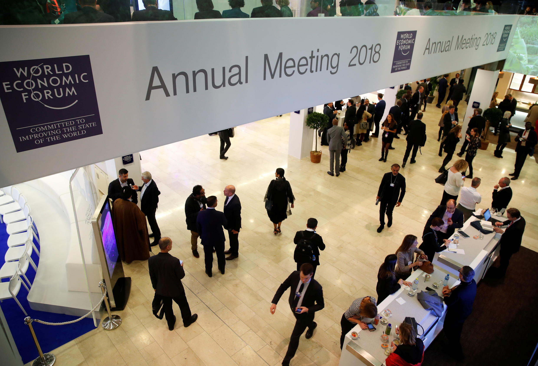 Davos 2018 trước giờ khai mạc WEF.