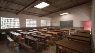 Salle de classe à Bujumbura, Burundi.