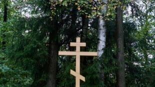 Ảnh chụp một góc khu mộ gần Matxcơva, nơi chính quyền Stalin hành quyết hơn 6000 người từ 1937 đến 1941.