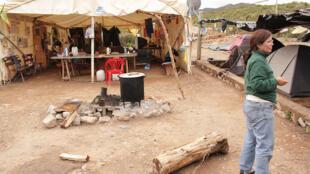 Campamento en Famatina para protestar contra el proyecto de megaminería.