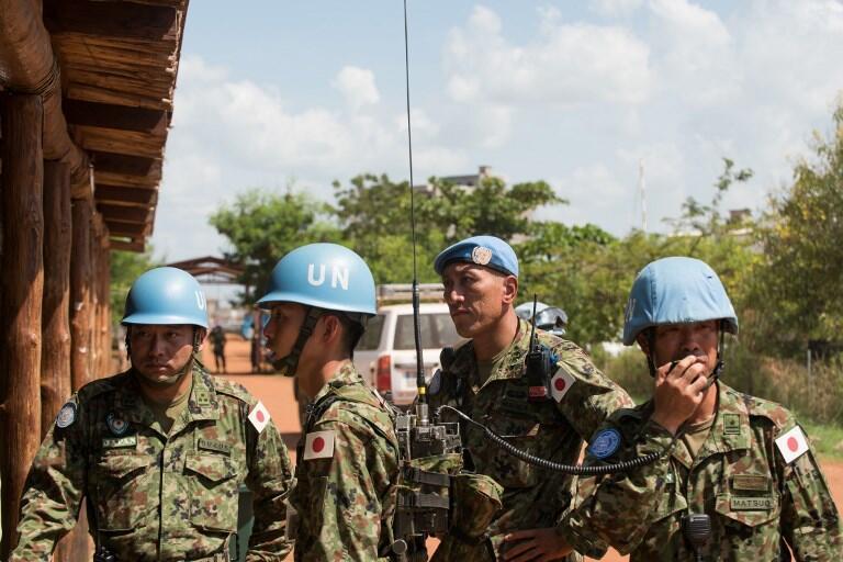 Les casques bleu en mission au Soudan du sud.