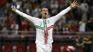 Cristiano Ronaldo ficou suspenso para o jogo seguinte contra o Azerbeijão