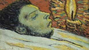تابلوی مرگ کازاگماس از آثار دوره آبی پیکاسو، موزه ملی پیکاسو در پاریس