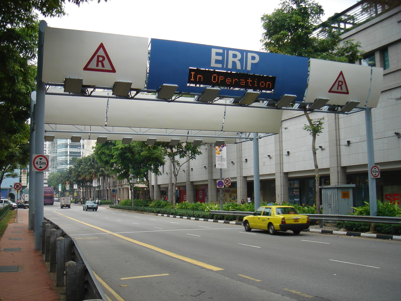 Un exemple de péage urbain à Singapour (image d'illustration).