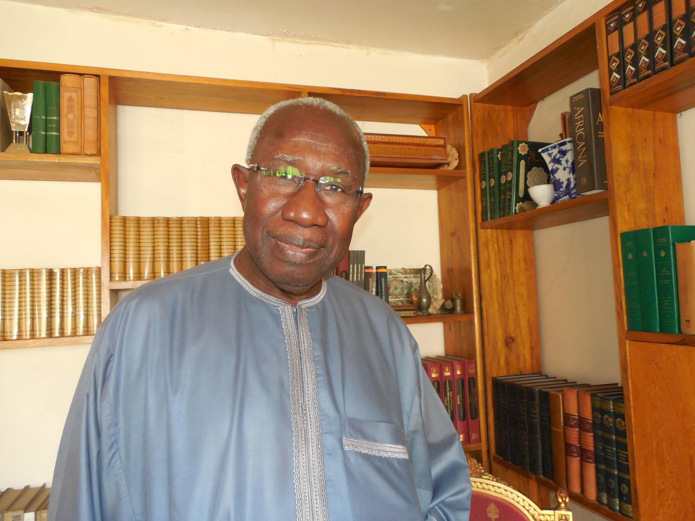 Le professeur Iba der Thiam, historien à l'origine du projet réécriture de l'histoire du Sénégal en 25 volumes.