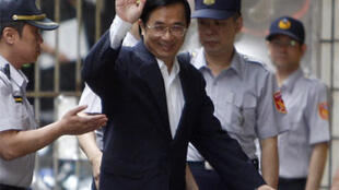 Chen Shui-bian arrives at the High Court in Taipei