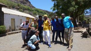 Le groupe de la Réunion, Lindigo à la découverte de la ville de Cidade Velha sur l'île cap capverdienne de Santiago.