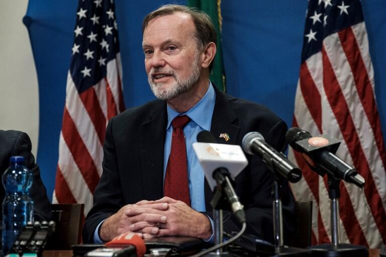 Le secrétaire d'Etat américain en charge des affaires africaines, Tibor Nagy, à Addis Abeba le 30 novembre 2018.