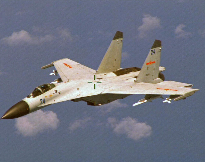 Chiến đấu cơ J-11 của Trung Quốc. Chi phí quốc phòng của Trung Quốc trong năm 2019 lên đến 181 tỷ đô la, đứng thứ hai thế giới, sau Mỹ.