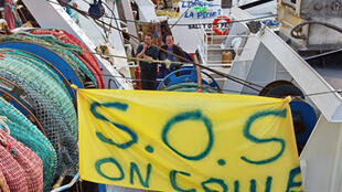 Les crises de la pêche sont récurrentes: manifestation de pêcheurs à Boulogne-sur-Mer en avril 2009 (photo d'illustration).