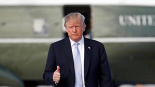 美国总统特朗普3月14日在洛杉矶