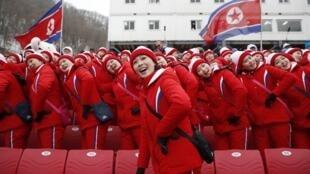 朝鮮派出的平昌奧運美女啦啦隊