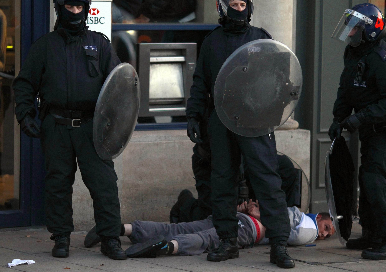 Police arrest a man in Enfield