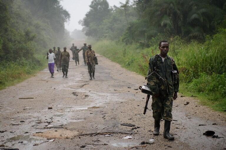 Un rebelle du M23 près de Mabenga, en juillet 2012.