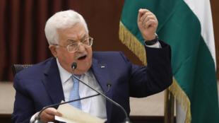 Presidente palestiniano, Mahmoud Abbas, ameaça pôr fim a acordos de segurança com Israel e Estados Unidos caso haja anexação de territórios por Israel