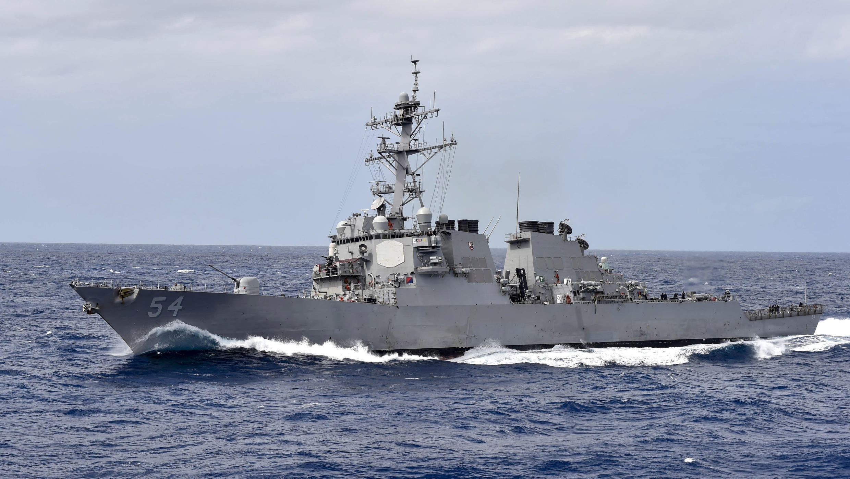 """美國阿利·伯克級導彈驅逐艦""""科蒂斯·威爾伯號""""USS Curtis Wilbur"""