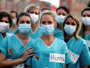 Derniers rassemblements dans plusieurs villes en France, avant la fin de la concertation du «Ségur de la santé»: ici le 30 juin à Nice.