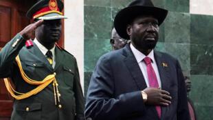 Salva Kiir, le président sud-soudanais, assiste à la première session de l'Assemblée législative nationale de transition, à Juba, le 14 mai 2019.