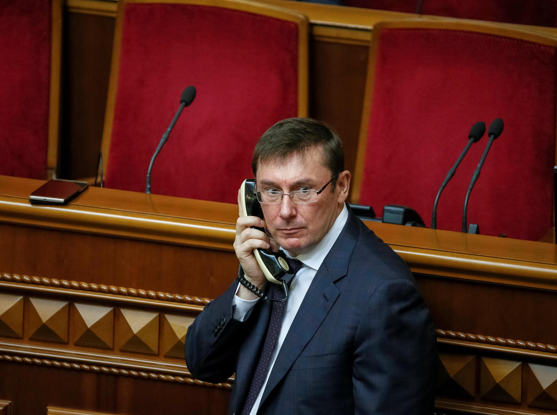 Новый генпрокурор Украины Юрий Луценко в Верховной Раде, 12 мая 2016 г.