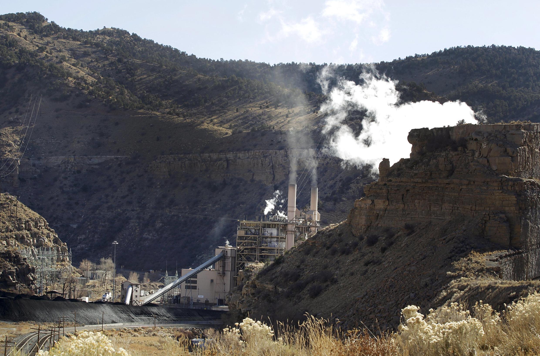 A usina a carvão de Castle Gate, em Utah, nos Estados Unidos, desativada na primavera de 2015, como antecipação às novas normas do plano do presidente Barack Obama.