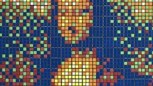 Rubik Mona Lisa, 2005 RubikCubism  -  'Rubik Masterpiece' series Assemblage of Rubik's cubes forming a pixelated transposition of La Gioconda/Mona Lisa by Leonardo da Vinci.