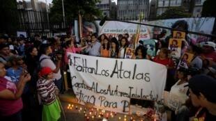 Después de conocerse la sentencia, grupos de apoyo a Berta Cáceres protestaron a las afueras de la Corte. Tegucigalpa