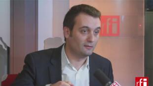 Florian Philippot, député européen, vice-président du Front National.