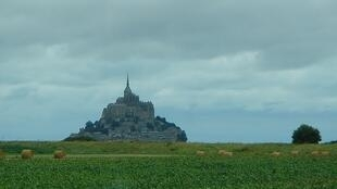 The road to Mont St Michel, Brittany