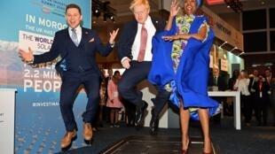 Le Premier ministre britannique Boris Johnson au sommet Afrique-Royaume-Uni pour la promotion des investissements, le 20 janvier 2020.