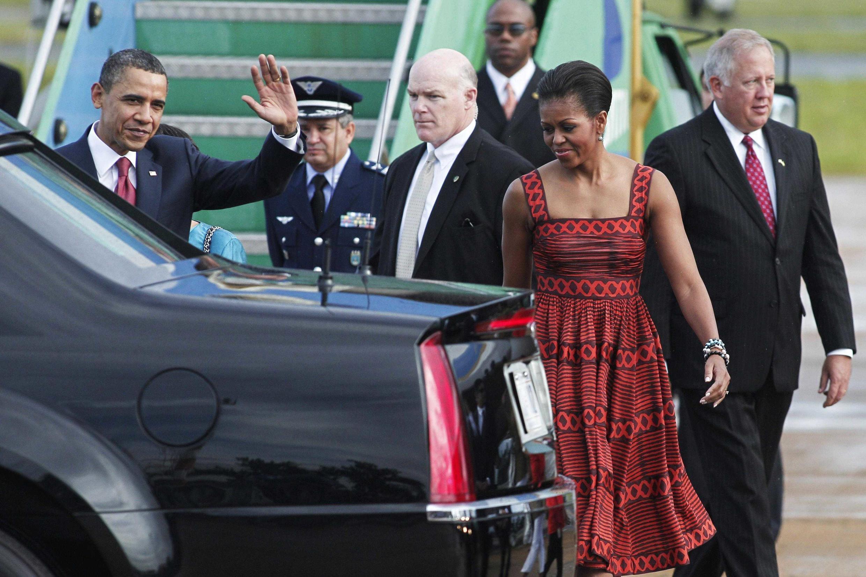 El presidente y su esposa, recién llegados a Brasilia.