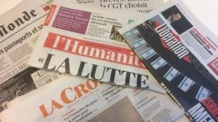 Primeiras páginas dos jornais franceses de 19 de abril de 2018