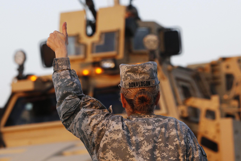Une femme de l'armée américaine en Irak, fin 2011.