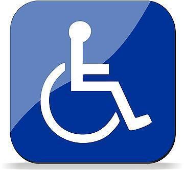 Symbole international caractérisant une zone pour personne ayant une mobilité réduite.