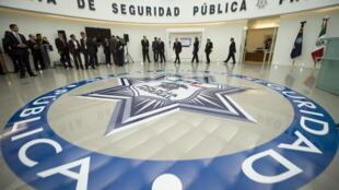 Inauguration du nouveau Centre de renseignements contre le crime organisé, à Mexico, le 14 novembre 2009.
