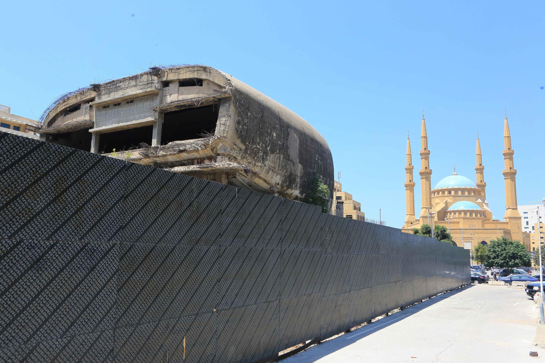 Le dôme du City Center, appelé aussi «The Egg», «l'oeuf», à Beyrouth.