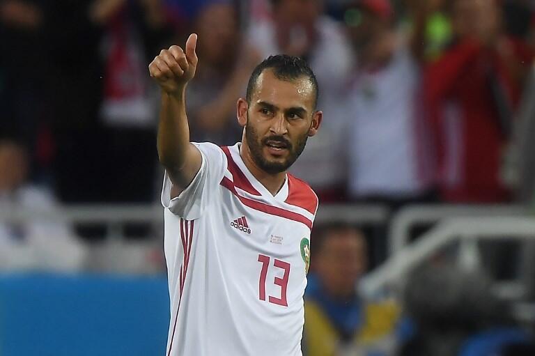 Khalid Boutaïb, l'attaquant marocain, buteur face aux Comores.