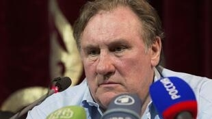 Жерар Депардье на пресс-конференции в Грозном 21/05/2013
