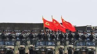 Ảnh minh họa. Quân đội Trung Quốc duyệt binh ngày 30/07/2017.