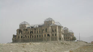 The ruins of the royal palace at Kabul after decades of war