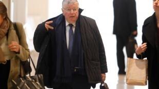 Didier Lombard, ancien président de France Télécom, à son arrivée au palais de justice, le 6 mai.
