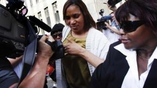Nafissatou Diallo outside the prosecutor's office, 27 July 2011