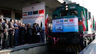 نخستین قطار چین - ایران به تهران وارد شد
