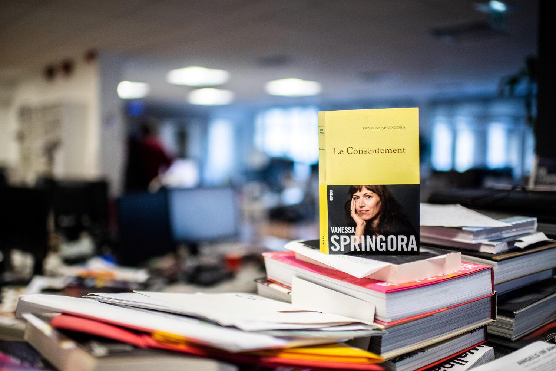 The book Le Consentement by Vanessa Springora, which prompted prosecutors to open a rape investigation into novelist Gabriel Matzneff.