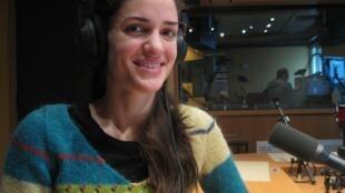 La cantante lírica española Elena Sancho Pereg en nuestros estudios.