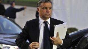 Viktor Orban, Premier ministre hongrois du parti de droite Fidesz.